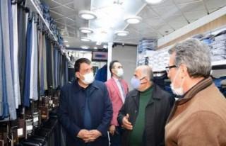 Başkan Gürkan Esnafları Ziyaret Etti