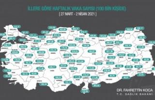 Haftalık insidans haritası açıklandı! Malatya'da...
