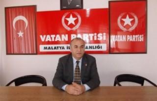 Vatan Partisi Malatya İl Başkanı Arif Doğan'ın...