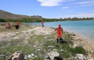 Battalgazi'deki Göletler Temiz Hale Getiriliyor