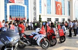 Battalgazi'de Motosiklet Kortejli Zafer Bayramı...