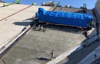 Malatya Yoncalı Barajında ön yüz beton imalatı...