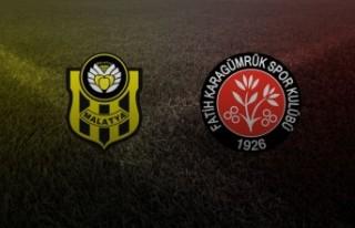 Yeni Malatyaspor-Fatih Karagümrük maç sonucu: 3-4