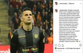 Aleksic'den Yeni Malatyaspor'a Veda Mesajı