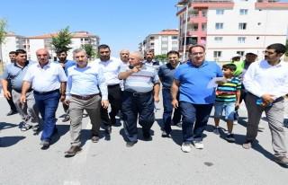 Başkan Çınar, madde ve sokaklarda devam çalışmaları...