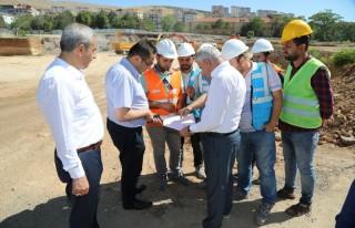 Başkan Güder, Battalgazi Devlet Hastanesi inşaat...