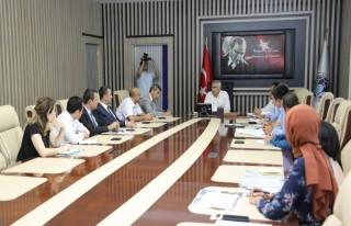 Başkan Güder,TKDK Malatya İl Koordinatörü Murat...