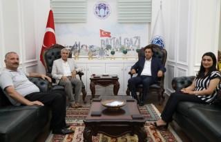 Kuluncak Belediye Başkanı Cengiz, Başkan Güder'i...