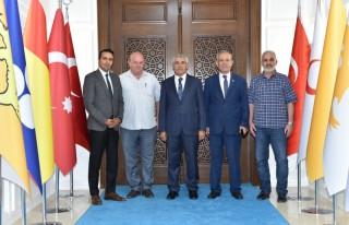 TGF Başkanı Karaca, Başkan Güder'i Ziyaret Etti