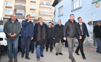Başkan Gürkan Deprem Sonrası Battalgazi'de İncelemeler Yaptı