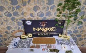 Malatya'da uyuşturucu operasyonu: 9 gözaltı