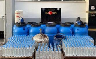 Malatya'da 2 bin 297 litre sahte içki ele geçirildi