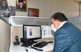 Başkan Gürkan Çağrı Merkezinde Vatandaşların Taleplerini Dinledi