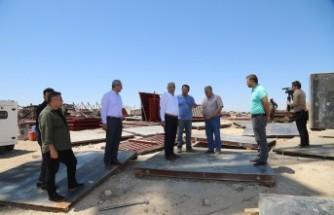 Başkan Güder, YİBO'daki Deprem Konutlarının İnşaat Çalışmaları İnceledi