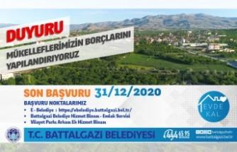 Battalgazi Belediyesi Borçları Yapılandırıyor