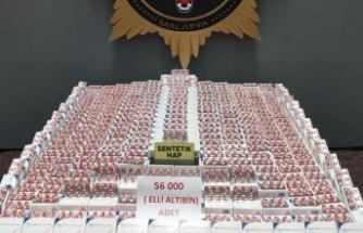 Müdür Dağdeviren, uyuşturucuya savaş açtı! 56 bin adet uyuşturucu hap ele geçirildi