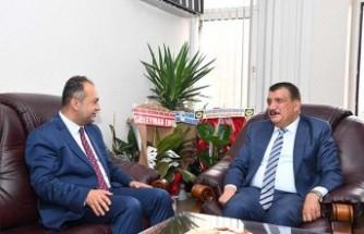Başkan Gürkan'dan, Baro Başkanı Demez'e Hayırlı Olsun Ziyareti