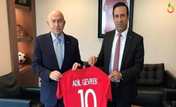 Gevrek'ten TFF Başkanı Nihat Özdemir'e Ziyaret