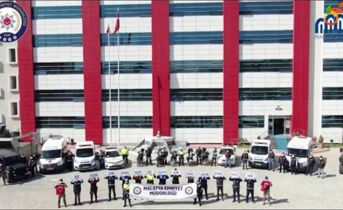 Malatya'da polisler, korona virüs uyarısı için klip yaptı