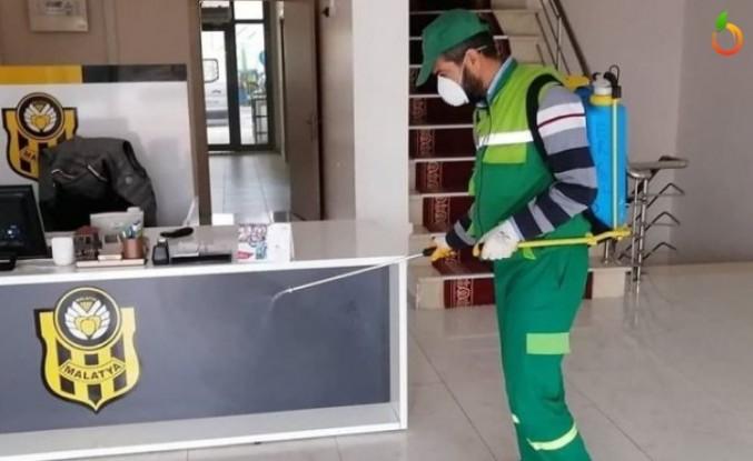 YMS'un Tesisleri Dezenfekte Ediliyor