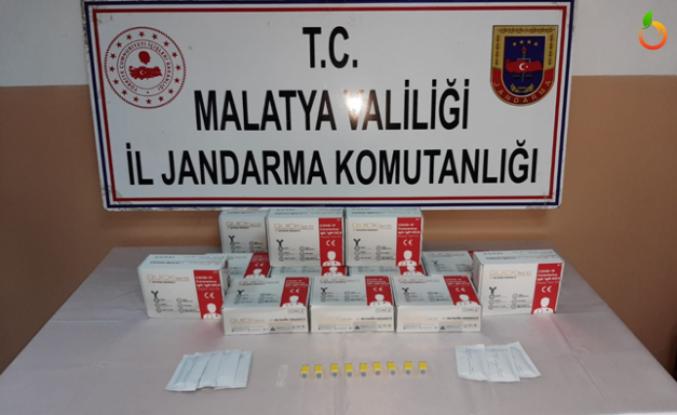 Malatya'da Kaçak Covid-19 hızlı test kiti ele geçirildi