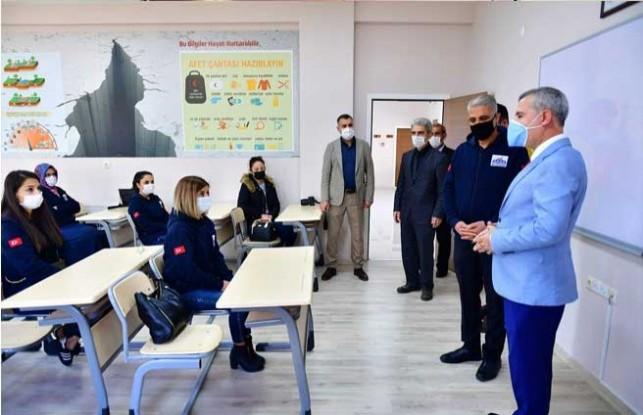 112 Acil Çağrı Merkezi Personelleri, Deprem Eğitim Simülasyon Merkezi'nde