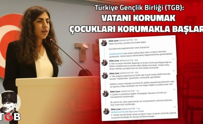 TGB Başkanı Dilek Çınar: 'Vatanı korumak çocukları korumakla başlar'