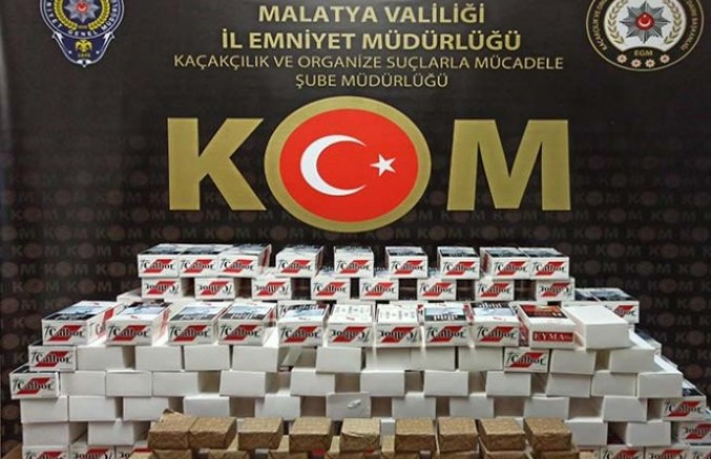 Malatya'da 100 bin adet makaron ele geçirildi