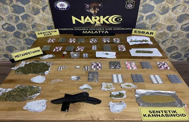 Malatya'da 'uyuşturucu' operasyonu: 21 gözaltı