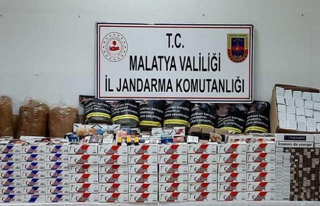 Malatya'da uyuşturucu ve kaça sigara ele geçirildi