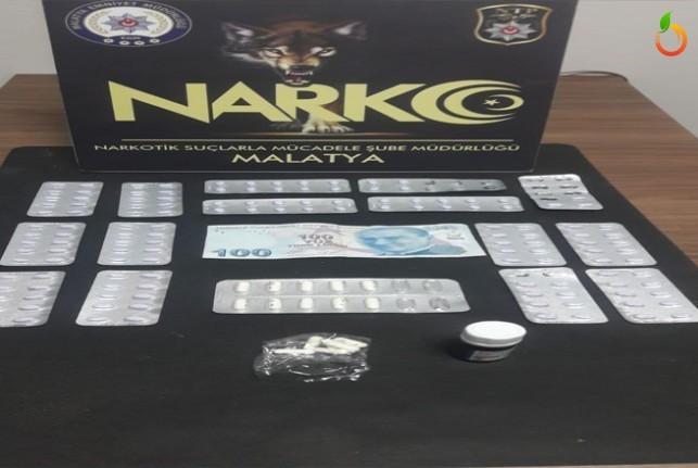 Malatya'da 4 uyuşturucu satıcı tutuklandı