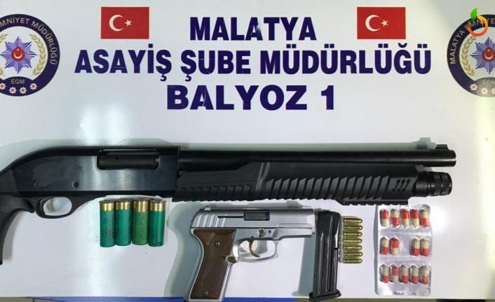 Malatya'da Uyuşturucu ve Kaçak Silah Operasyonu