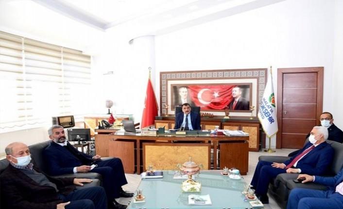 Hekimhan Heyetinden Başkan Gürkan'a Teşekkür Ziyaret