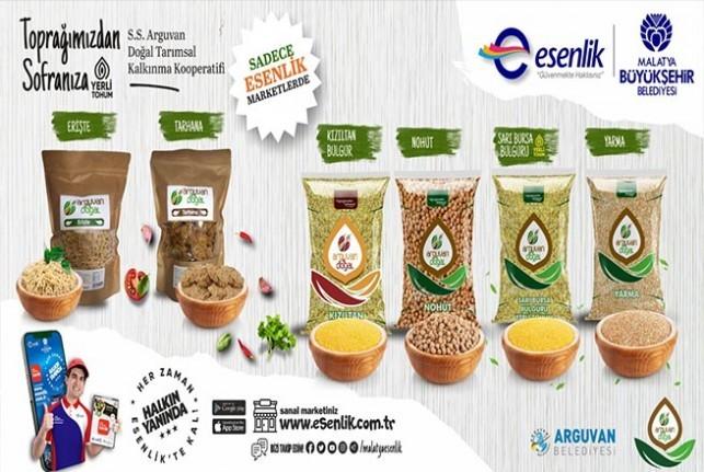 Arguvan 'ın Bereketli Topraklarında Yerli Doğal Ürünleri Esenlik 'te Tüketici İle Buluşacak