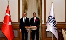 Hindistan Büyükelçisi SanjayBhattacharyya Vali Baruş'u Ziyaret Etti