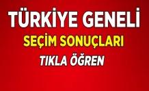 Türkiye Geneli Seçim Sonuçları 2018