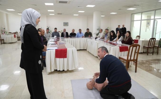 Güder: 70 personelimiz 'İlkyardımcı belgesi' alacak